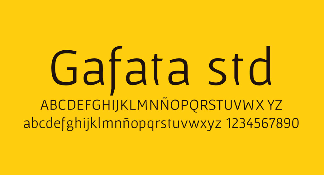 logo design fonts Gafata