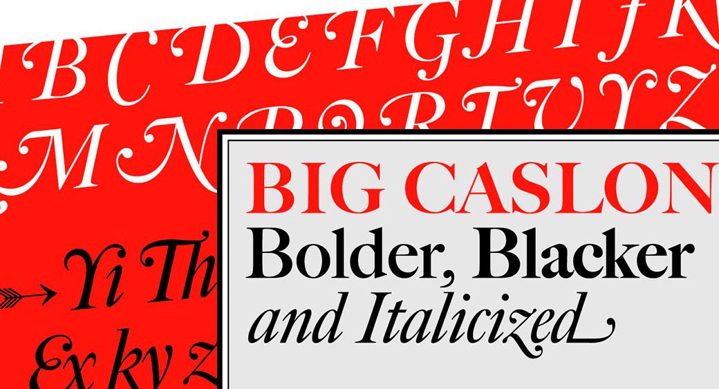 logo design fonts big caslon font
