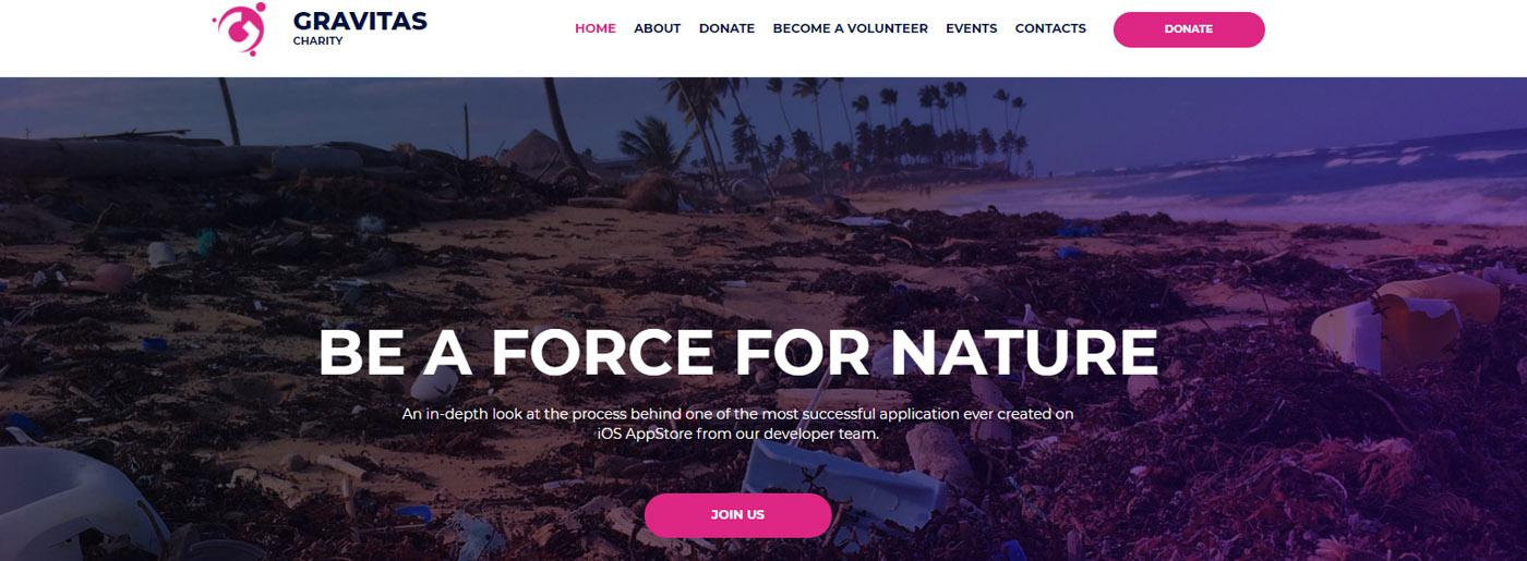Charity Organization - Gravitas