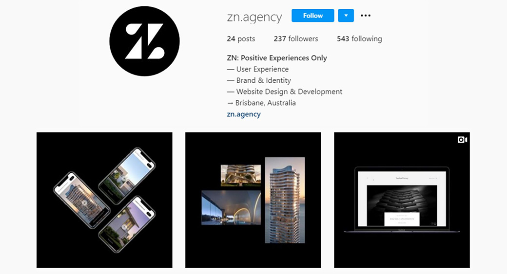 professional website development - Instagram account
