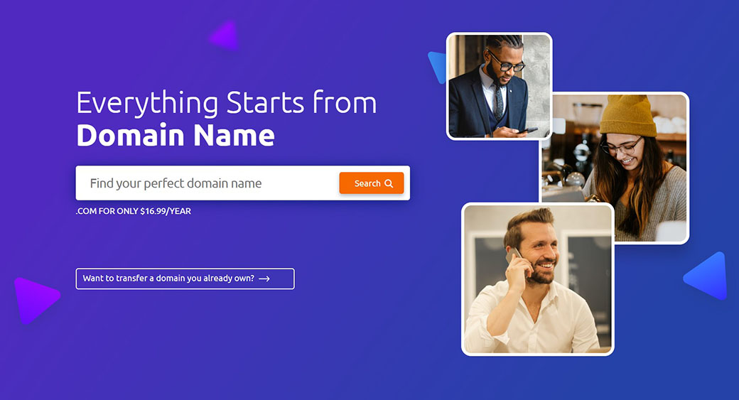 find and buy a domain name - main image