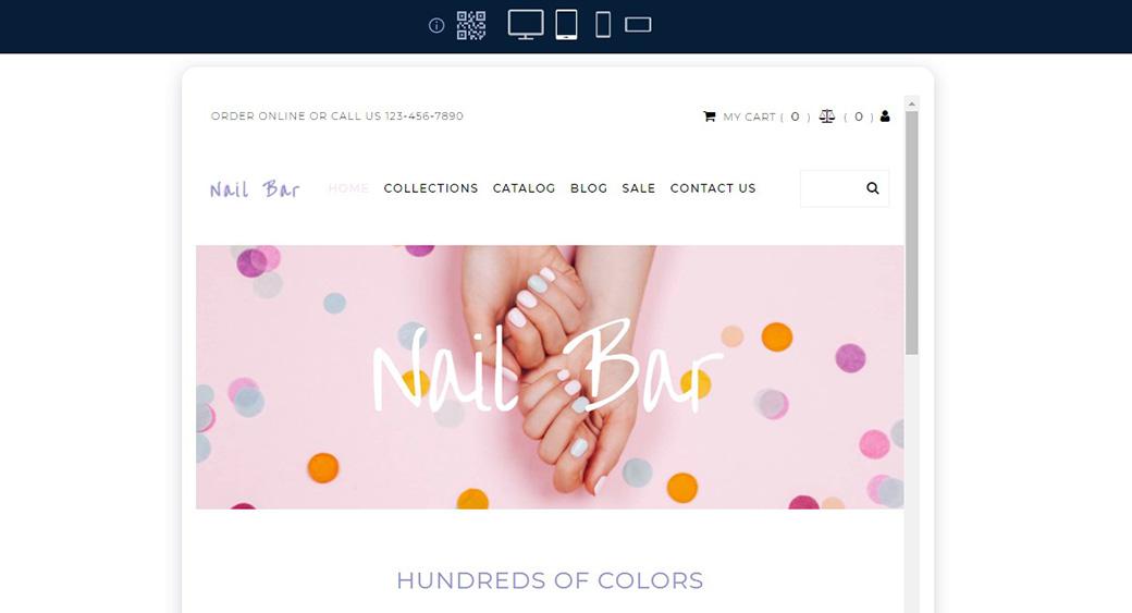 responsive design of a website theme