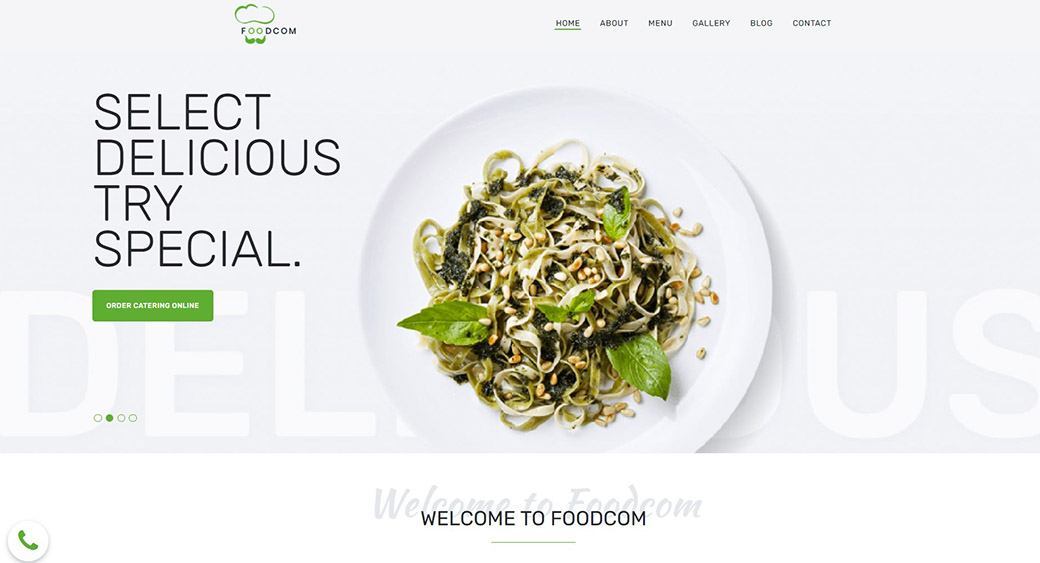 how to create a restaurant website with a ready-made template