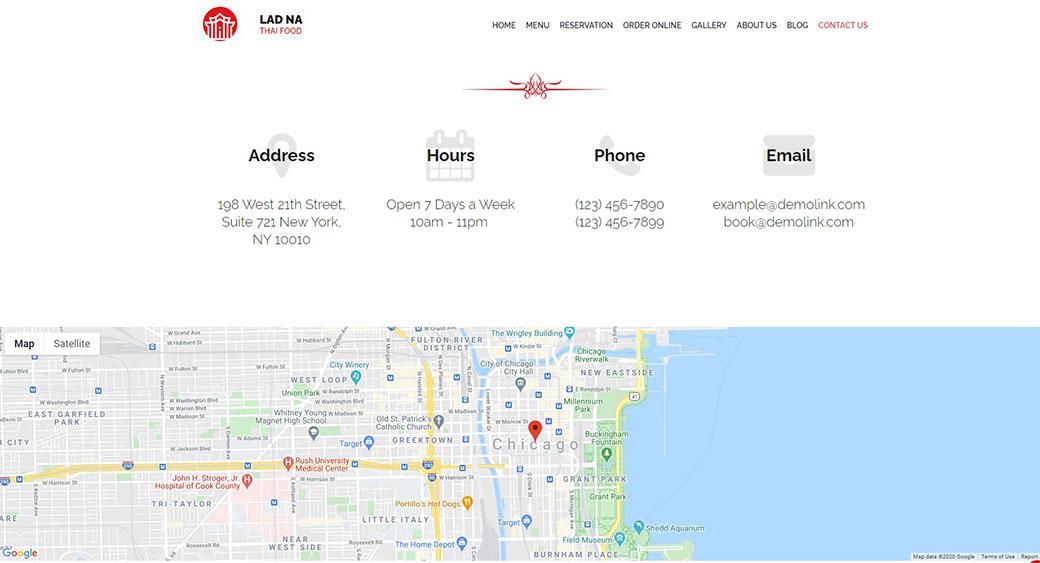adding a map to a restaurant website