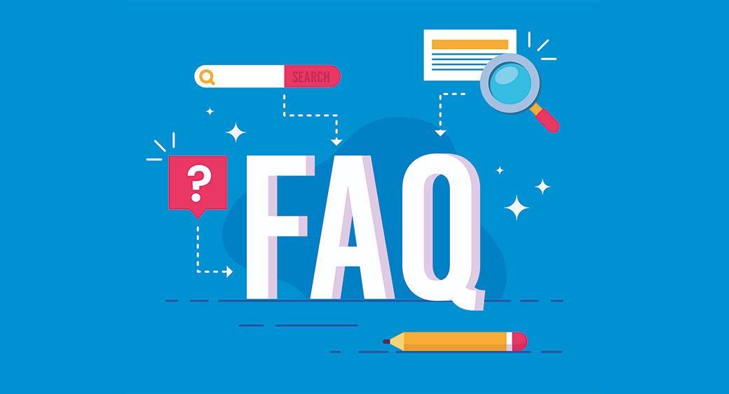FAQ page for finding answers