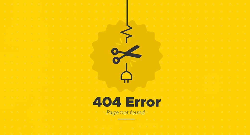 crashed website message