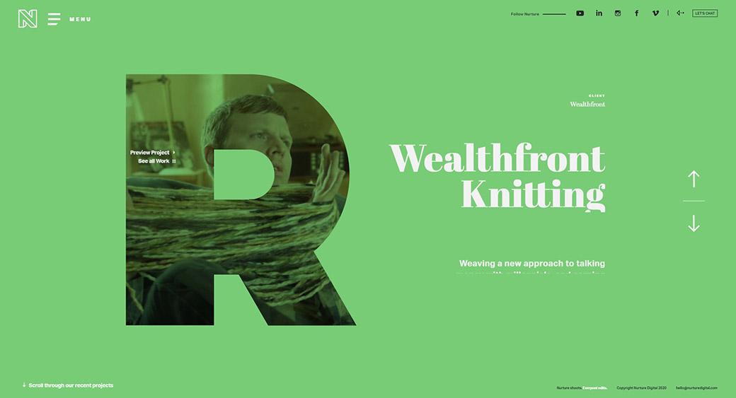 modern typography in website design
