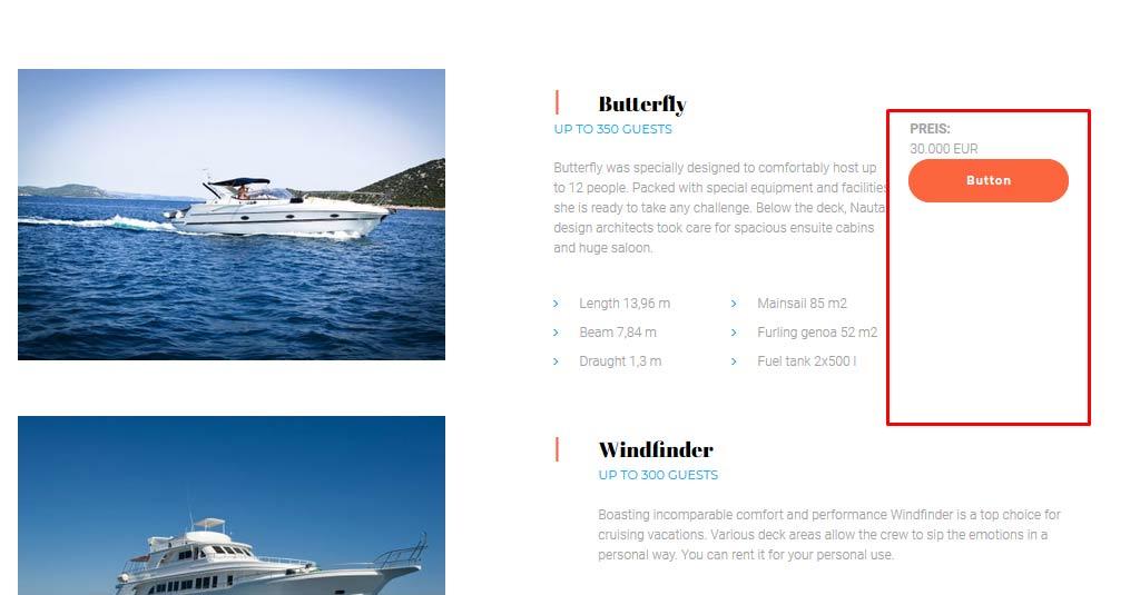 yacht website button bearbeiten