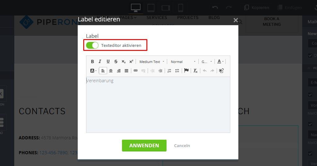 34 email kampagne mailchimp widget optionen