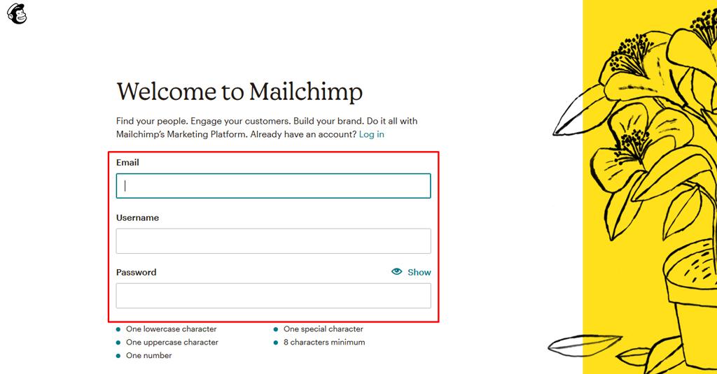 5 e mail kampagne mailchimp anmeldung