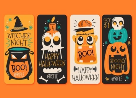 Trendy Halloween Website Design & Free Instagram Highlight Covers - No Ghost Towns Online