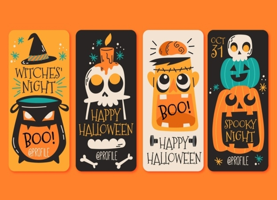 Trendy Halloween Website Design & Free Instagram Highlight Covers – No Ghost Towns Online