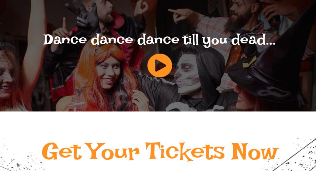 Halloween website design layout