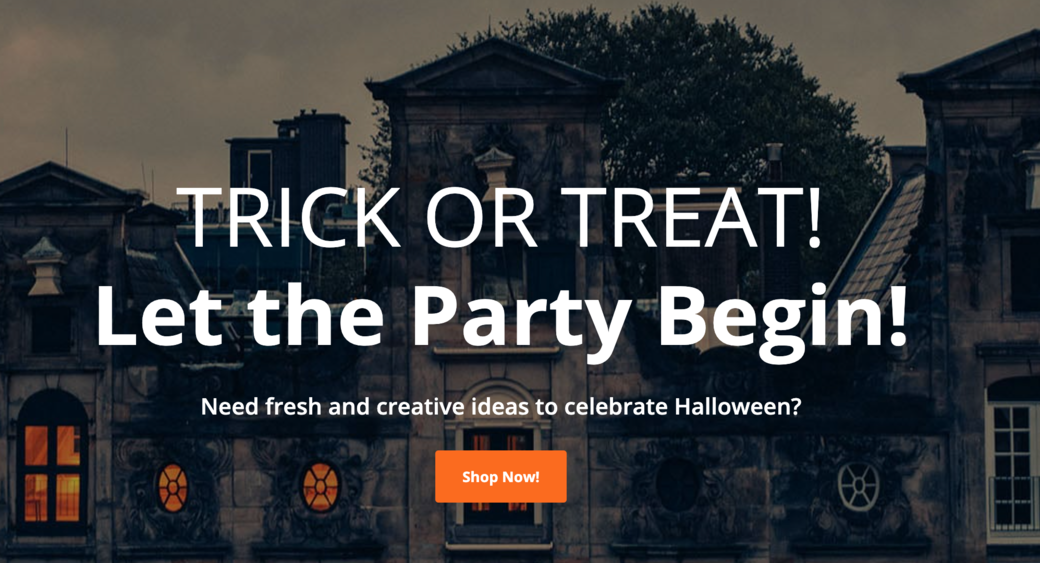trick or treat web layout