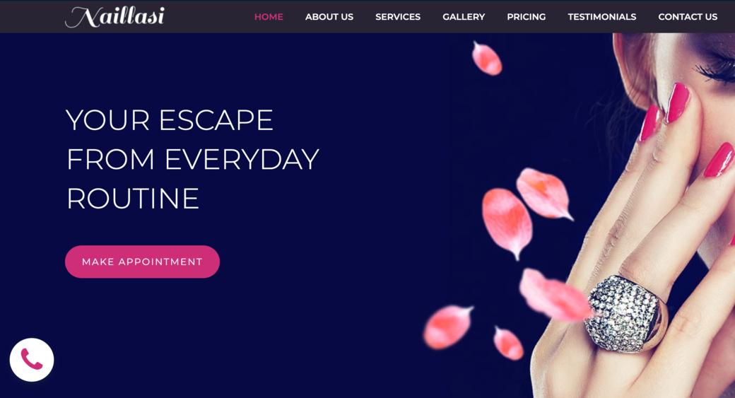 spa website design promotion