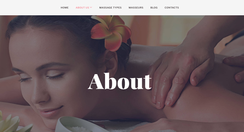 create a professional spa website design for your business