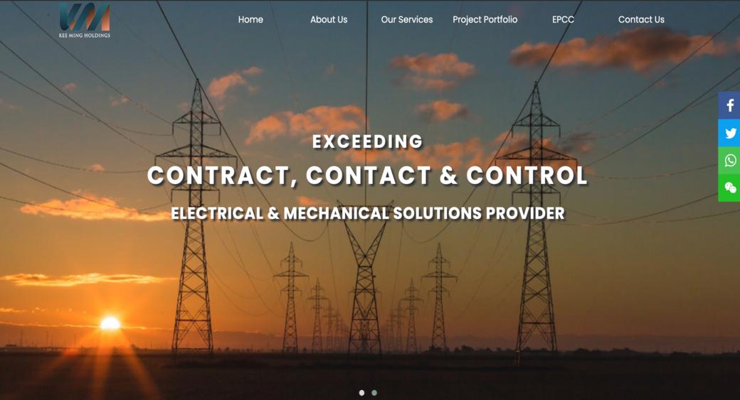 electrician company website builder