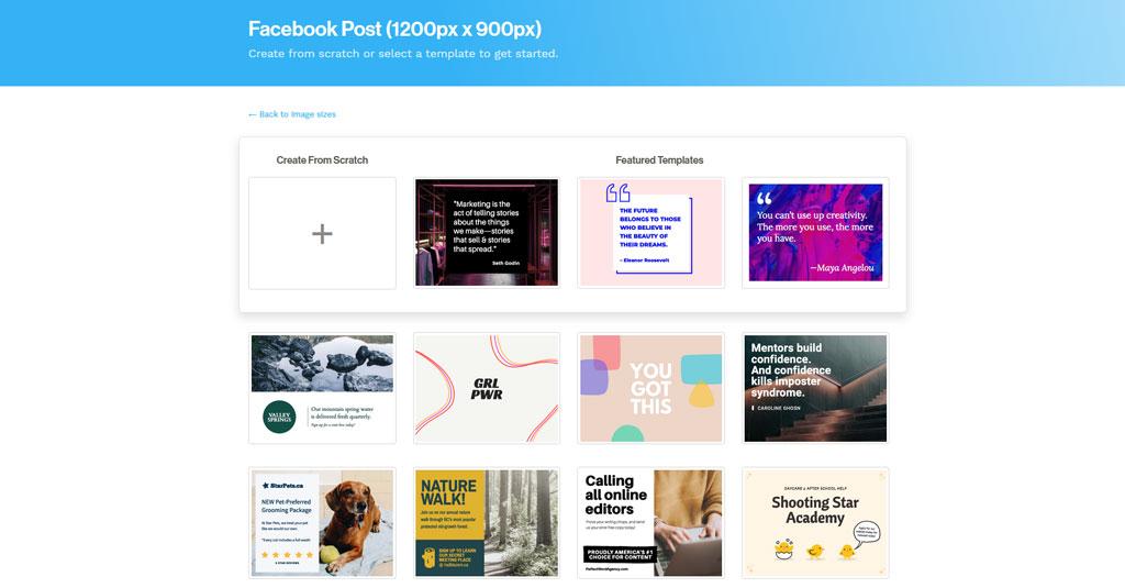 online Grafikdesign programme gratis Snappa
