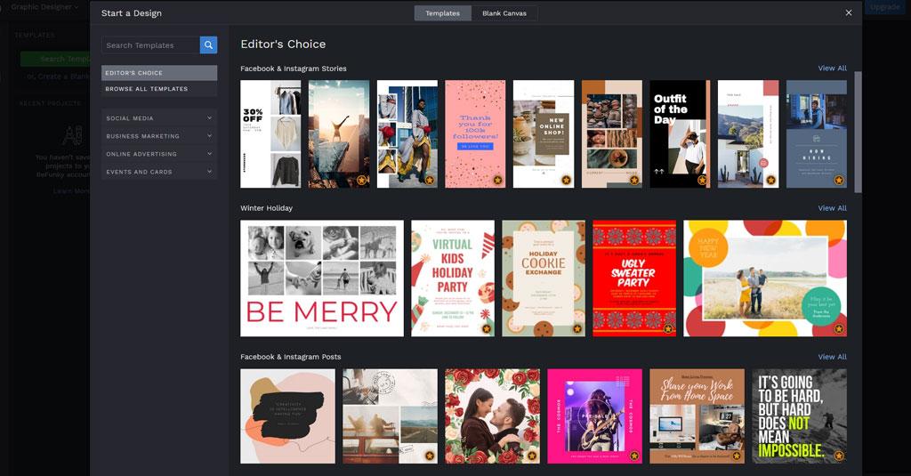 online Grafikdesign programme gratis BeFunky