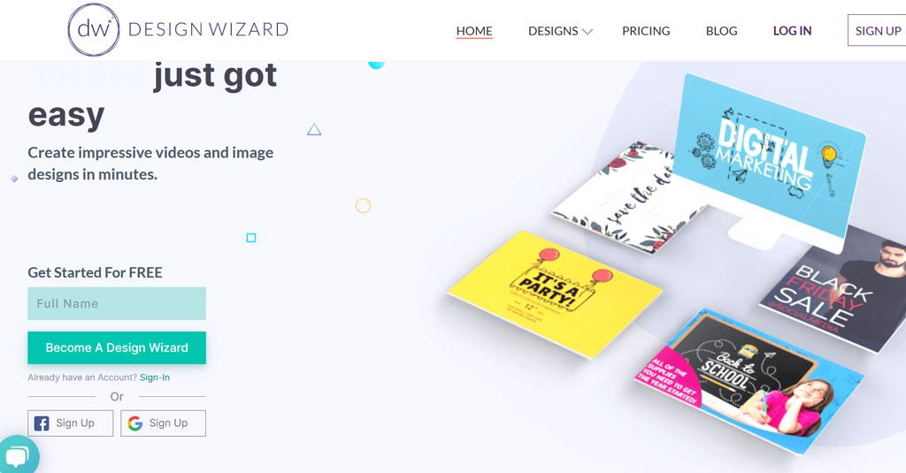 online Grafikdesign programme gratis Design Wizard