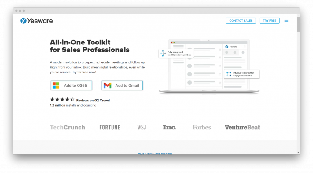 yesware email tracking tools