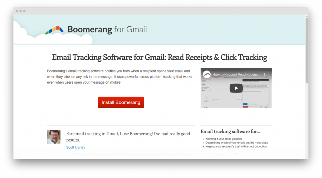 boomerang email tracking tools