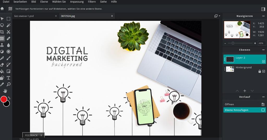 online Grafikdesign programme gratis Pixrl