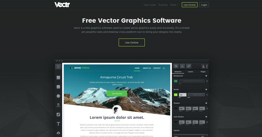 online Grafikdesign programme gratis Vectr