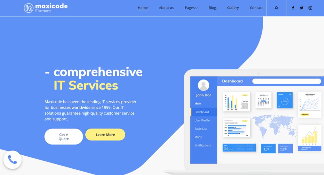 IT service website design template
