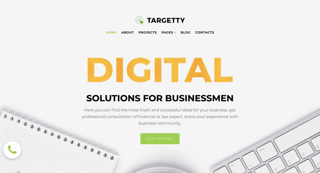 IT and advertising company template