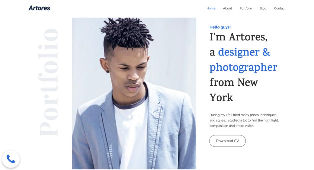 professional art portfolio for designer