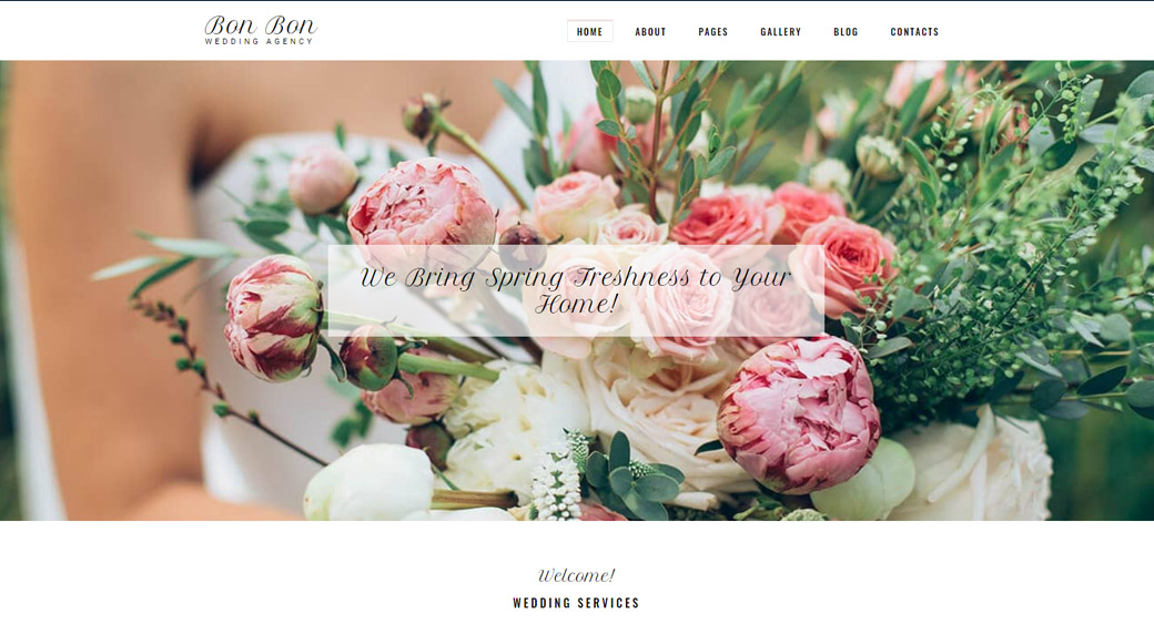 Astonishing Template for Wedding Agencies
