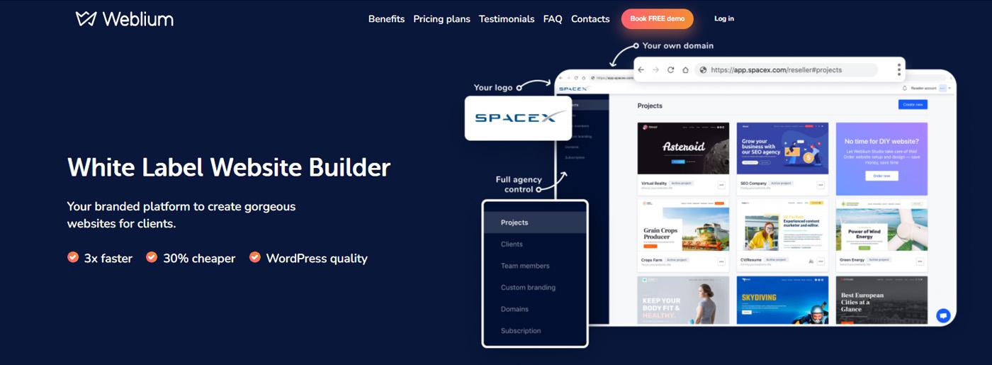 Weblium White Label Website Design