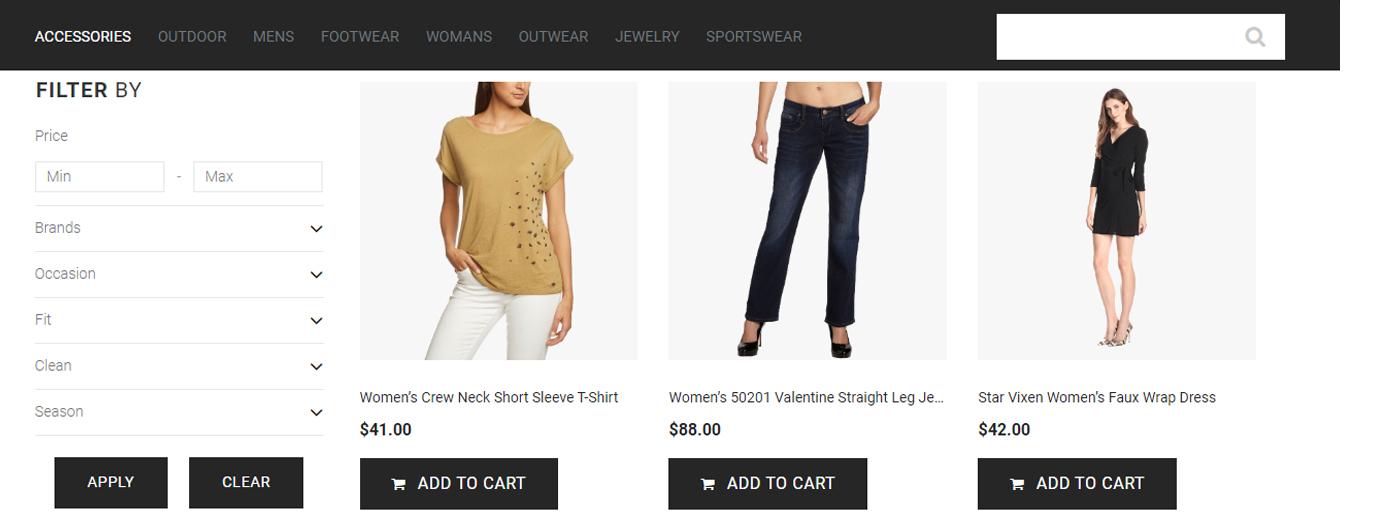Convenient Clothes Website
