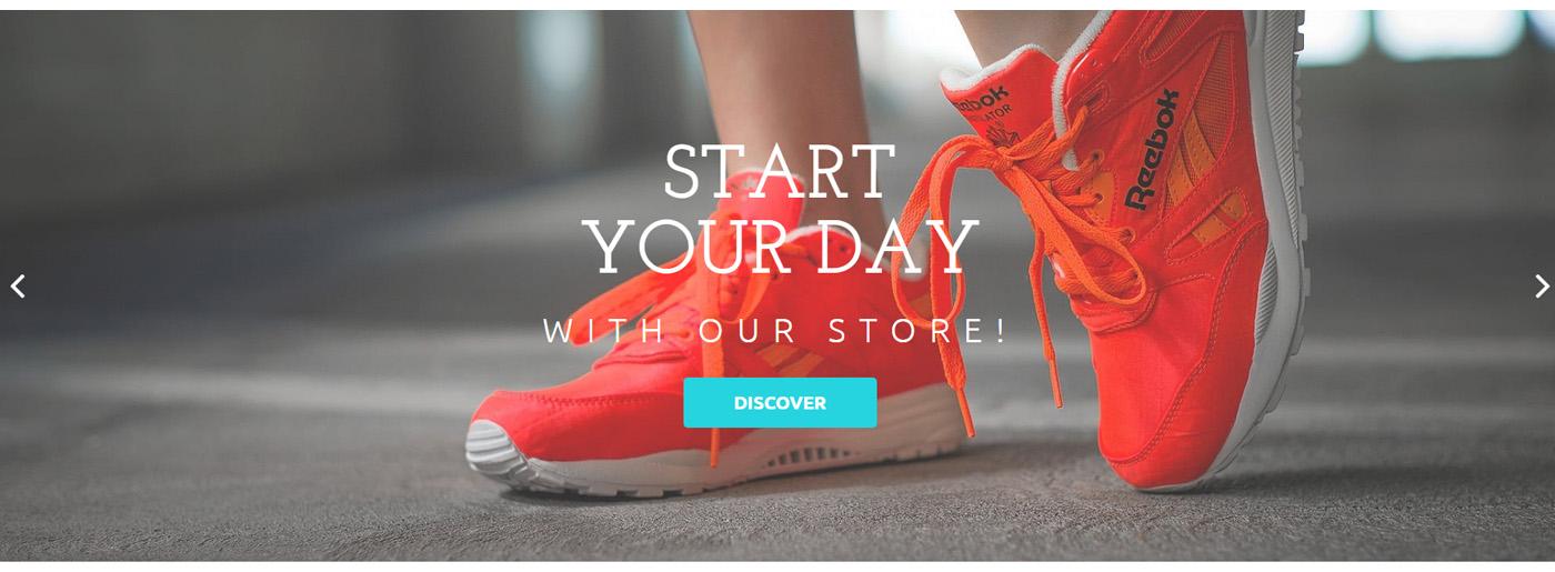 Footwear Website Template for Online Shoe Store