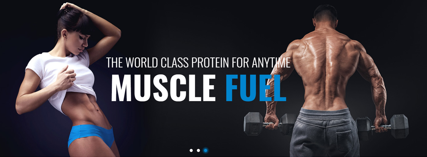 Sport Nutrition Website Template for Online Store