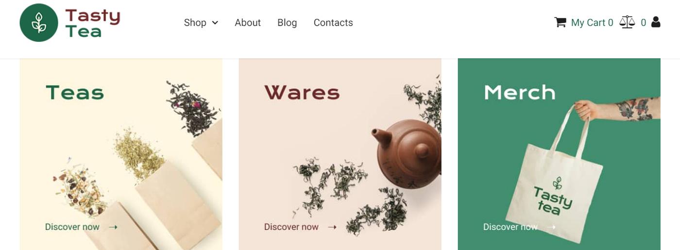 Tasty Tea Website