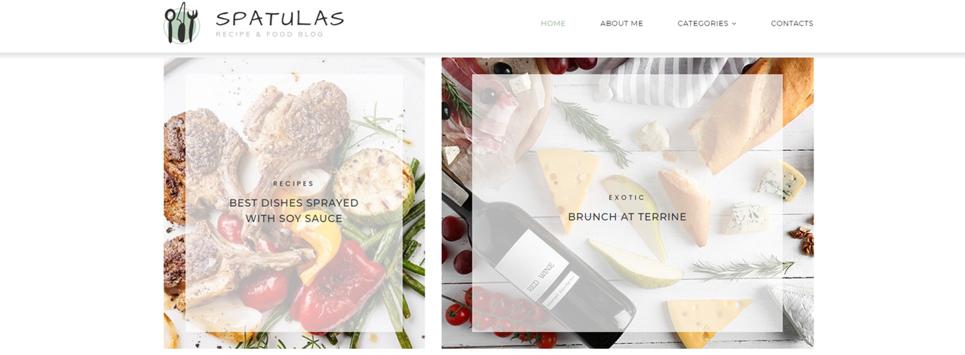 Perfect Theme for a Food Blog