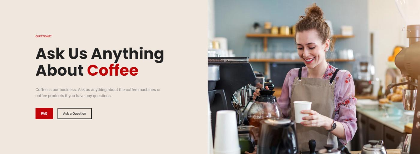 Coffee Machine Rental Website