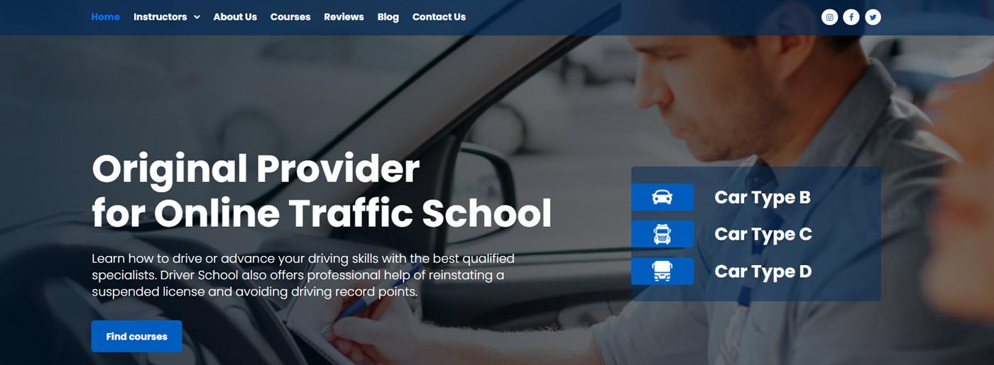 Driving Instructor Website Design