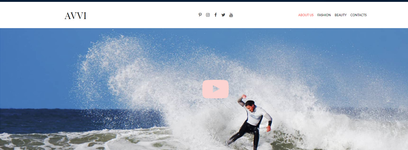 Fashion Blog Website Design - Visual Content vs Text Content