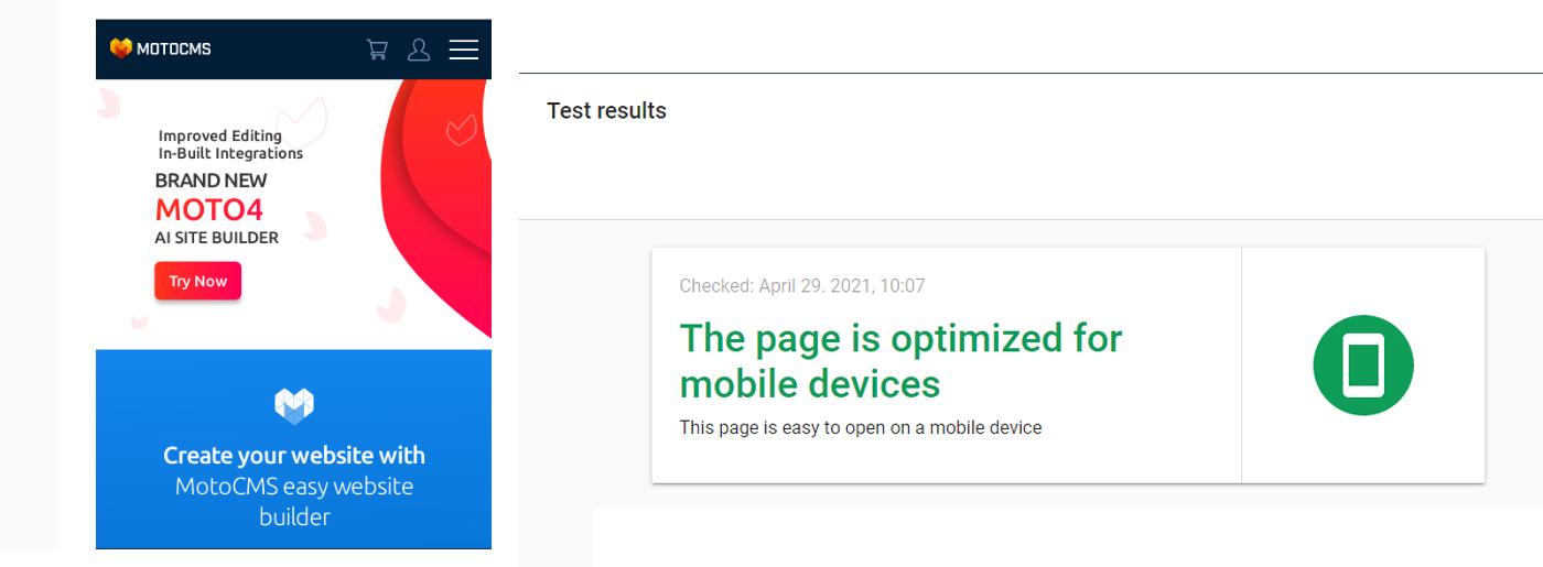 Mobile Optimization Test
