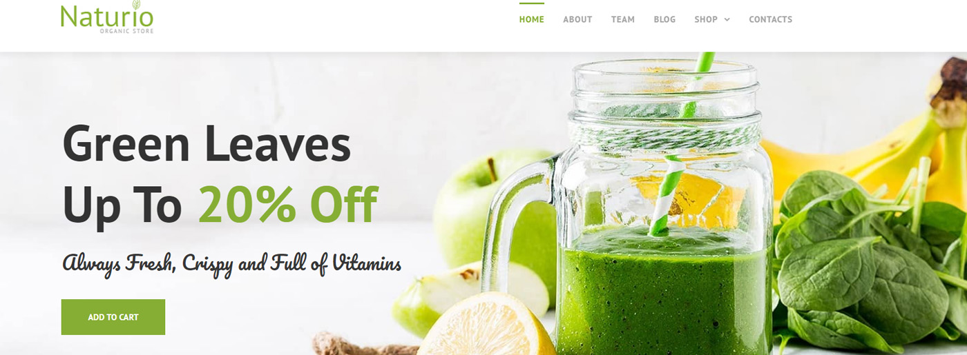 Organic Website Design for Food and Cosmetics Store