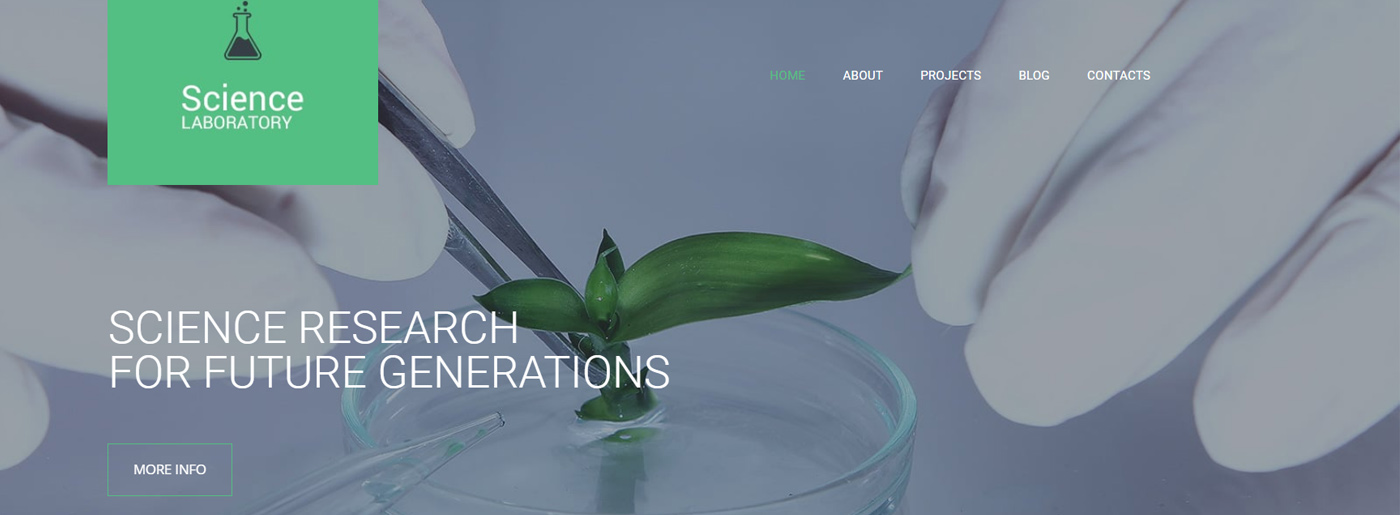 Science Lab Website Template for Scientific Sites