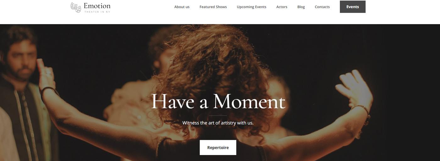 Theater Website Design