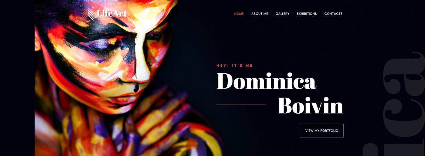 art portfolio website design