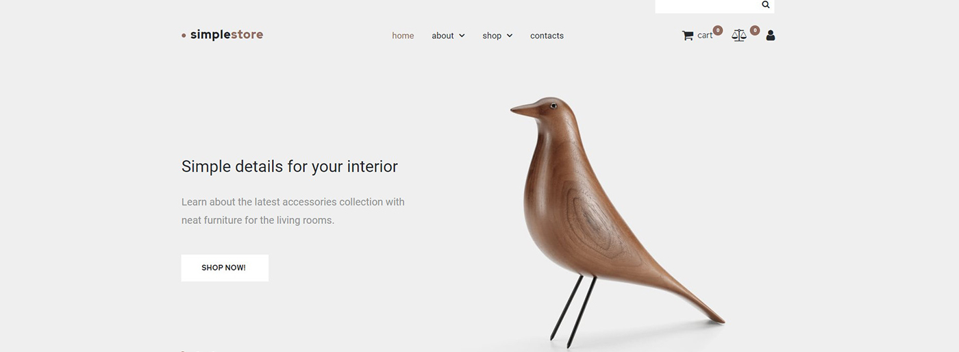 home decor ecommerce template