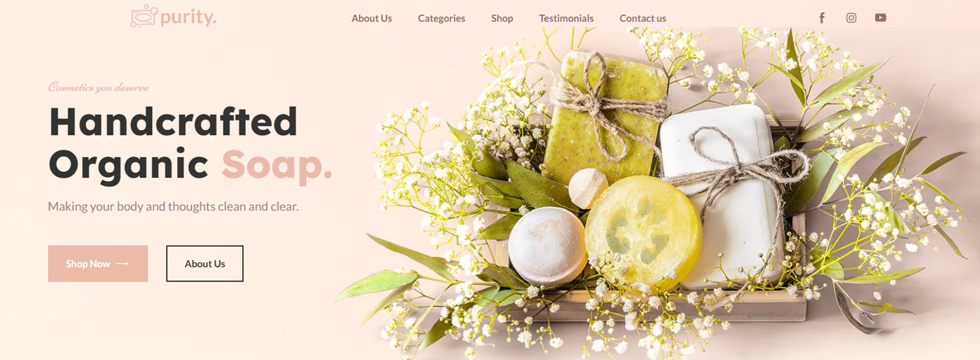 Handmade Soap Website Design