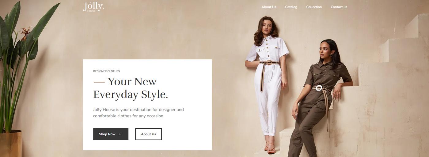 High Fashion Website Design