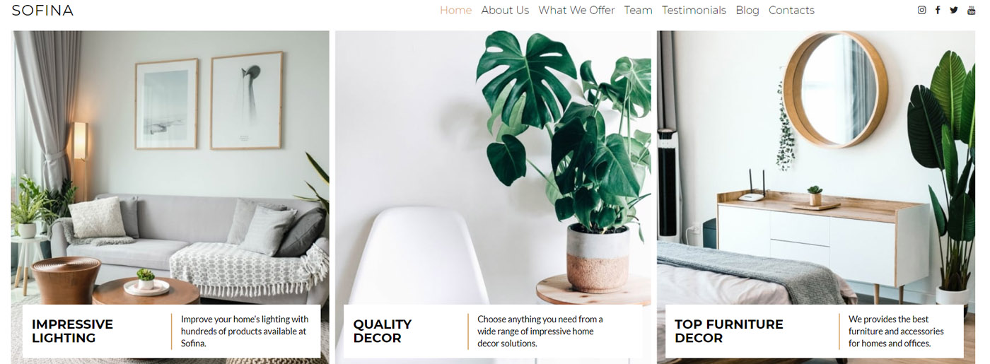Home Decor Website - Examples of Vision and Mission Statement